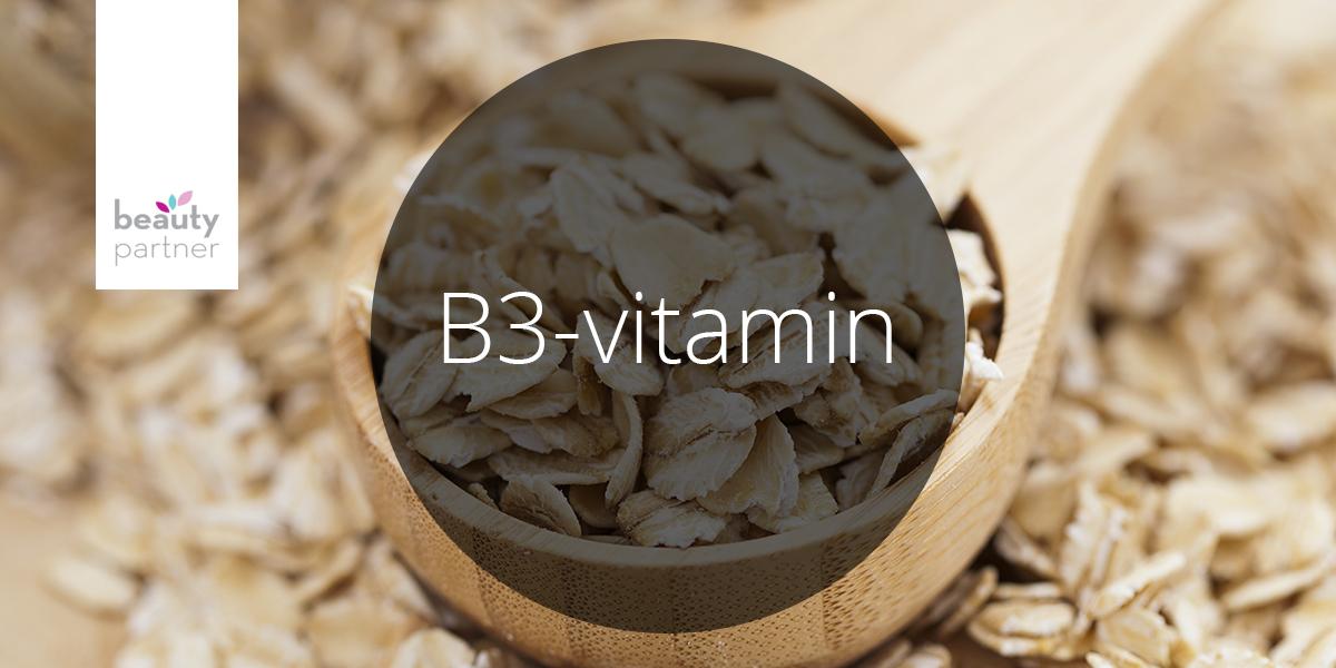 Vitaminok a kozmetikumokban – B3-vitamin